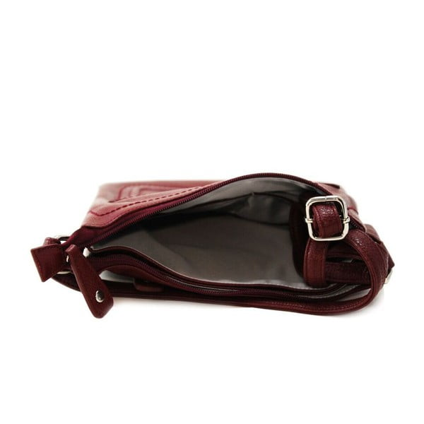 Kožená kabelka Cassandra Wine