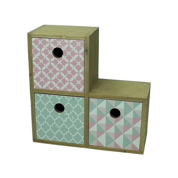Skříňka se 3 zásuvkami Pastel