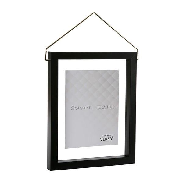 Černý závěsný fotorám VERSA, na fotografii 13 x 18 cm
