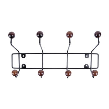 Cuier de perete PT LIVING Saturmus lungime 34 cm, negru cu detalii maro închis imagine