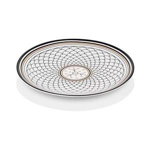 Černobílý talíř z kostního porcelánu The Mia Maroc Safi, ⌀ 40 cm
