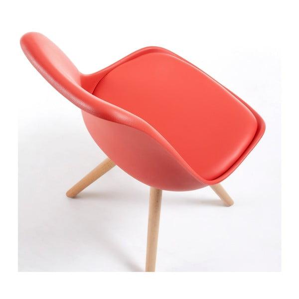 Červená židle La Forma Lars