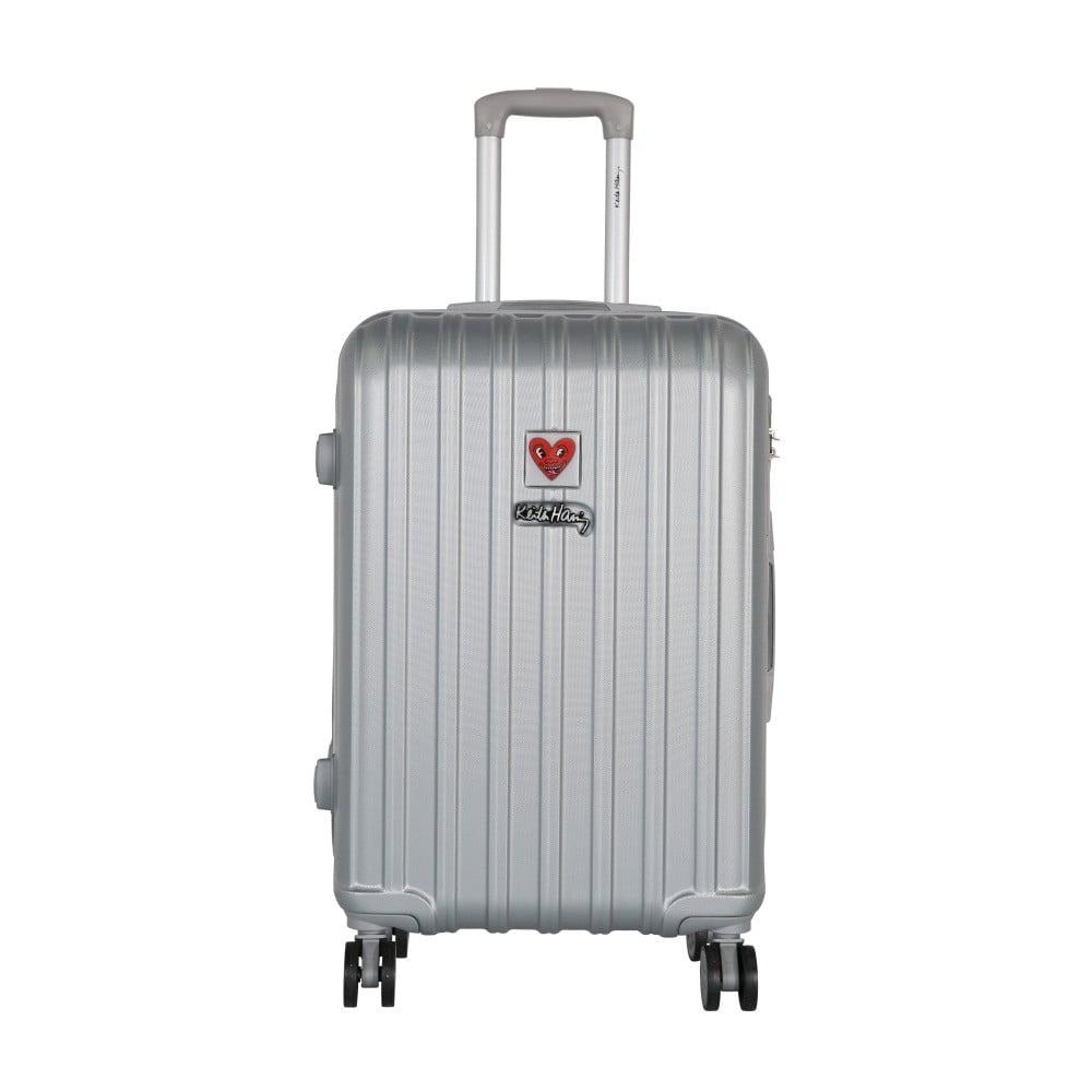 Světle šedý cestovní kufr LULU CASTAGNETTE Edge, 71l
