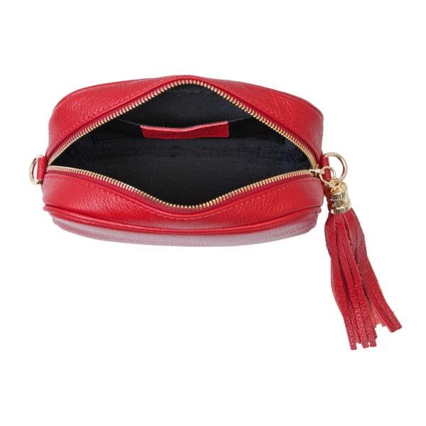 Červená kabelka z pravé kůže Andrea Cardone Pezzo