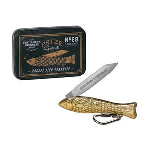 Briceag în formă de pește Gentlemen's Hardware, auriu