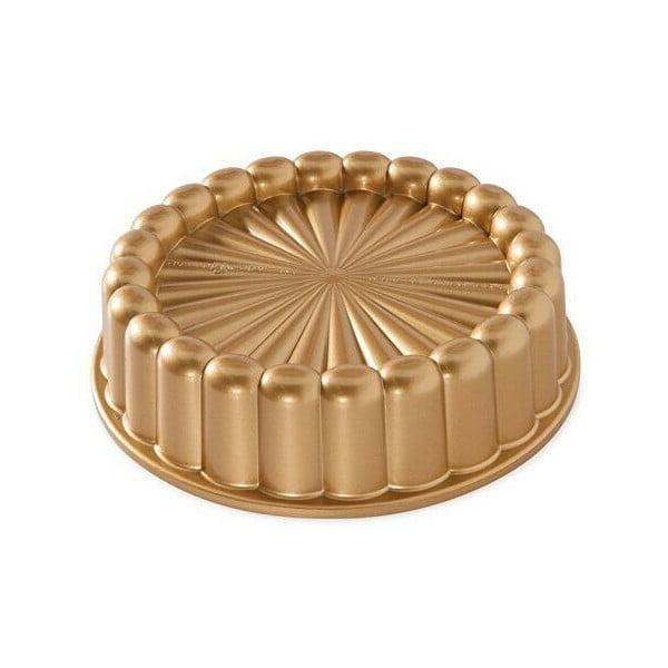 Forma na babkę w złotym kolorze Nordic Ware Charlotte, 1,4 l