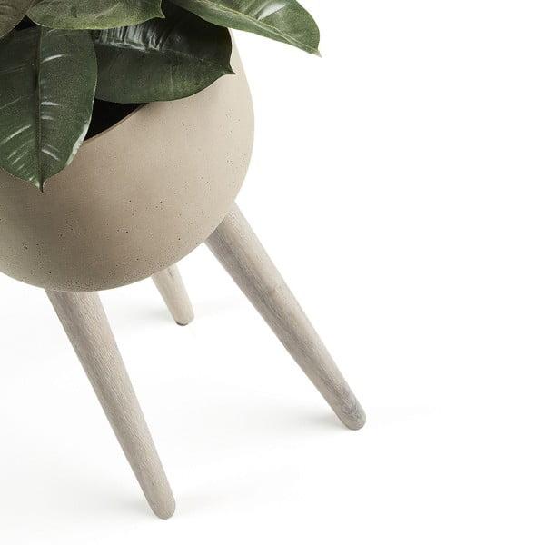 Ghiveci La Forma Stahl, 86 cm h, gri