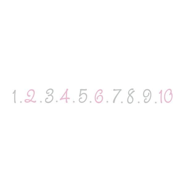 Vinylová samolepka Números Rosa