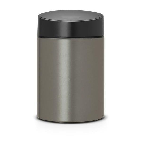 Odpadkový koš Slide Bin, 5 l, tmavě šedý