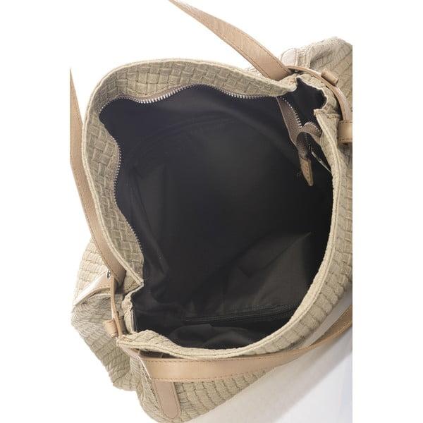 Kožená kabelka Markese 9600 Taupe