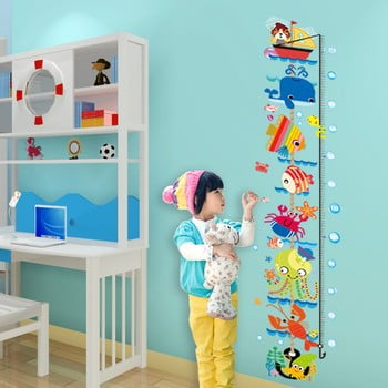 Metru de perete pentru copii Ambiance, albastru imagine
