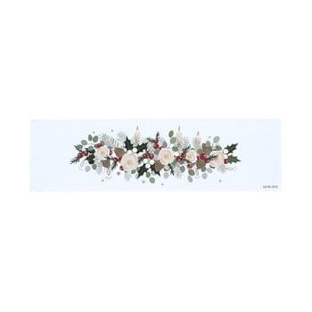 Napron masă din bumbac cu motiv de Crăciun Butter Kings Fir Branches, 140 x 40 cm
