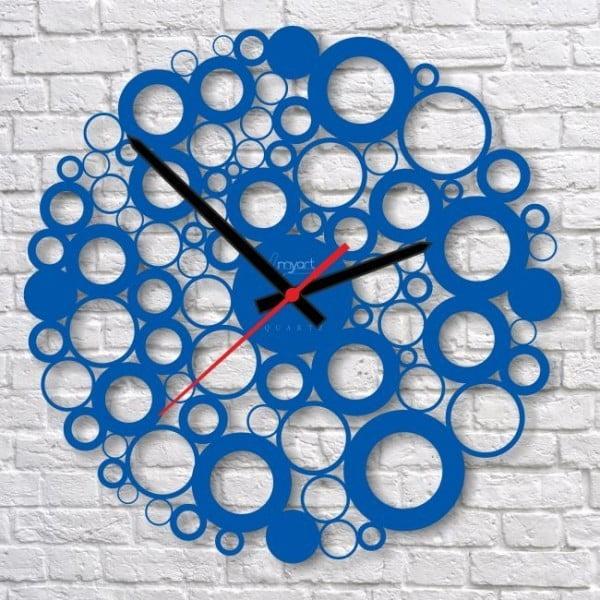 Nástěnné hodiny Blue Bubble
