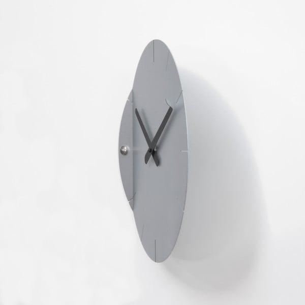 Nástěnné hodiny Sheet, stříbrné