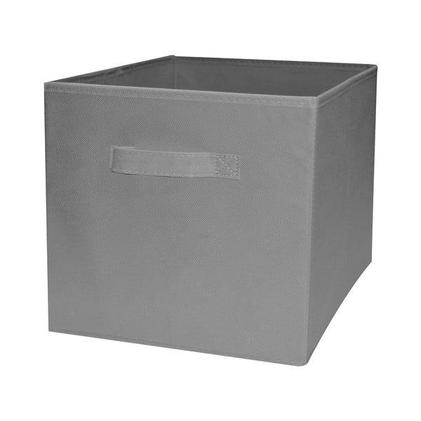 Sivý skladací úložný box Compactor Foldable Cardboard Box