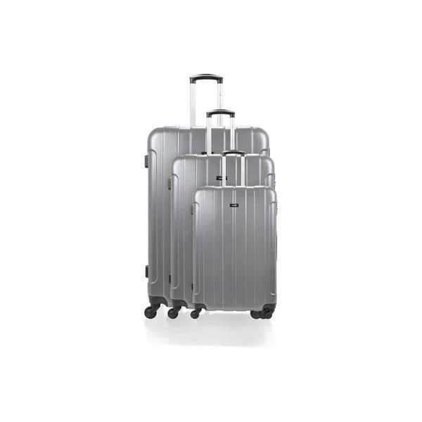 Sada 3 kufrů Roues Cadenas Grey, 105 l/72 l/40 l