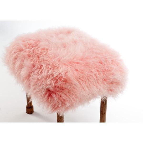 Stolička z ovčí kůže Myfanwy Baby Pink