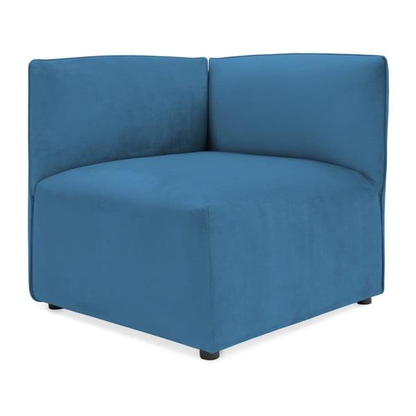 Modrý levý rohový modul pohovky Vivonita Velvet Cube