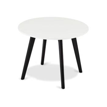 Măsuță de cafea din lemn Furnhouse Life, Ø 60 cm, alb-negru