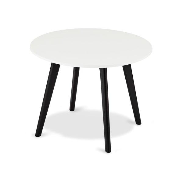 Czarno-biały stolik drewniany Furnhouse Life, Ø 60 cm