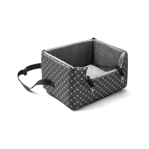 Šedá přepravní taška pro psa do auta Marendog Paws, 40 x 47 x 25 cm