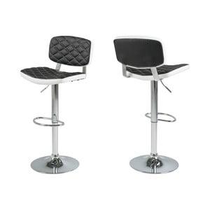 Sada 2 černobílých barových židlí Actona Alpini