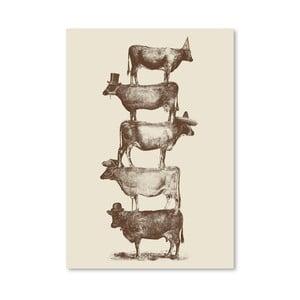 Plakát Cow Cow Nuts od Florenta Bodart, 30x42 cm