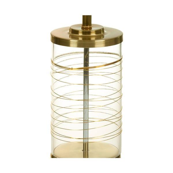 Bílá stolní lampa se základnou ve zlaté barvě SantiagoPons Leonardo