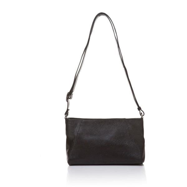 Kožená kabelka s dlouhým popruhem Marta Ponti Strada, černá