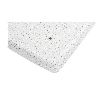 Cearceaf din bumbac pentru copii BELLAMY Dots, 80 x 160 cm de la BELLAMY