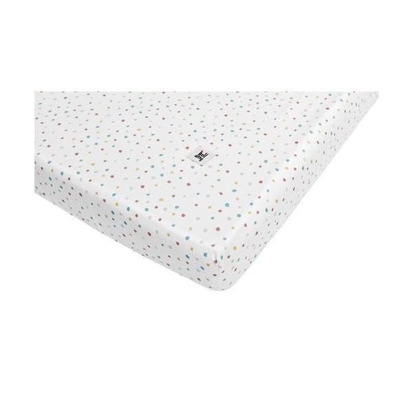Dziecięce bawełniane prześcieradło BELLAMY Dots, 70x140 cm