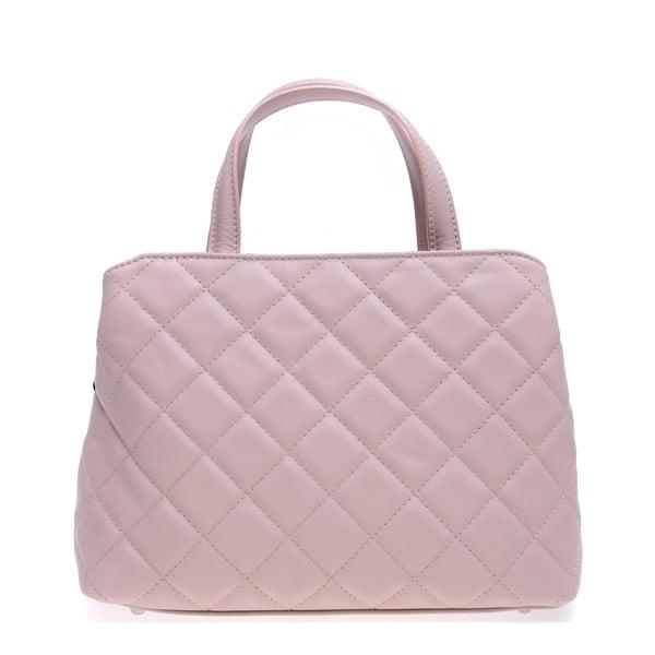 Růžová kožená kabelka Roberta M Allesia