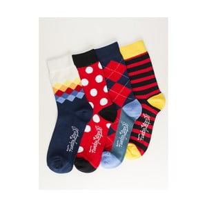 Sada 4 párů unisex ponožek Funky Steps Luka, velikost39/45