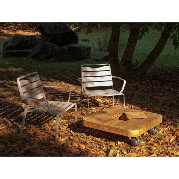 Zestaw 2 krzeseł ogrodowych i stolika z blatem z drewna tekowego Ezeis Spring