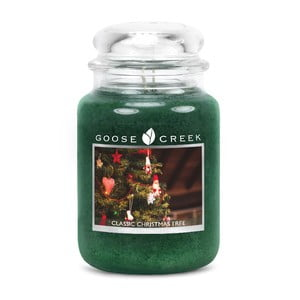 Vonná svíčka ve skleněné dóze Goose Creek Klasický vánoční stromek, 0,68kg