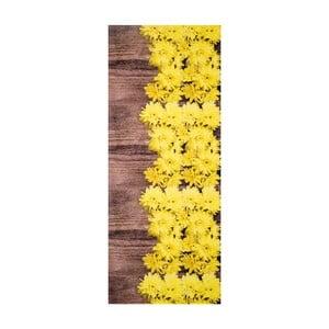 Žluto-hnědý vysoce odolný koberec Webtappeti Dalie, 58x80cm