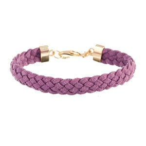 Náramek Strand braided gold, light violet
