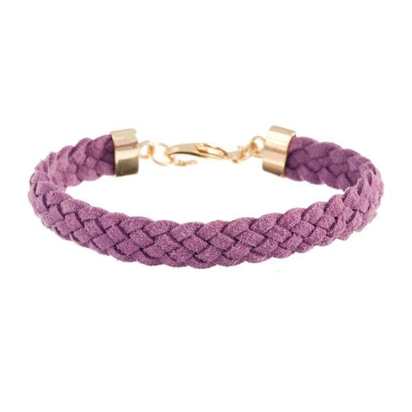 Náramek Strand braided gold, light violet