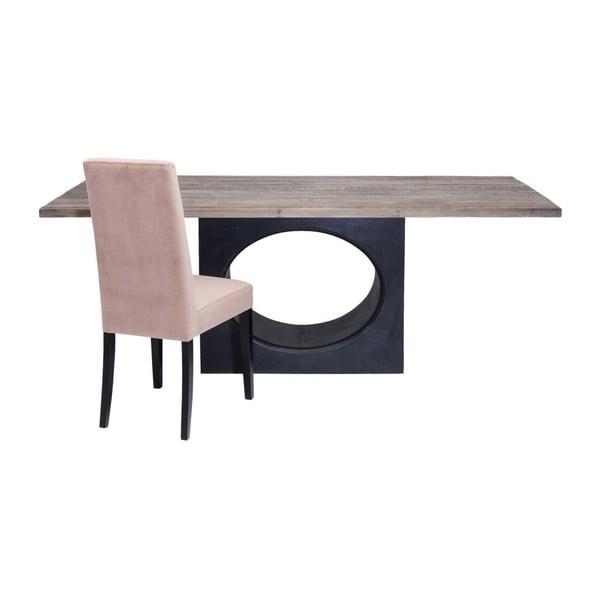 Černý dřevěný jídelní stůl s deskou Kare Design Zipper, 200 x 100 cm