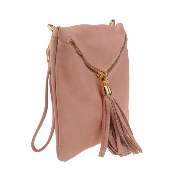 Pudrově růžová kabelka Matilde Costa Carpino