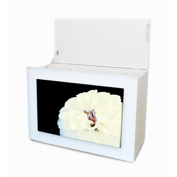 Multifunkční koš Květiny I, bílý rám