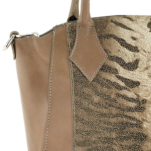 Kožená kabelka Gress Brown