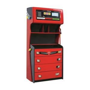 Červená šatní skříň Champion Racer Petrol Dresser