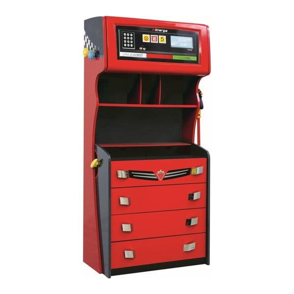 Champion Racer Petrol Dresser piros ruhásszekrény