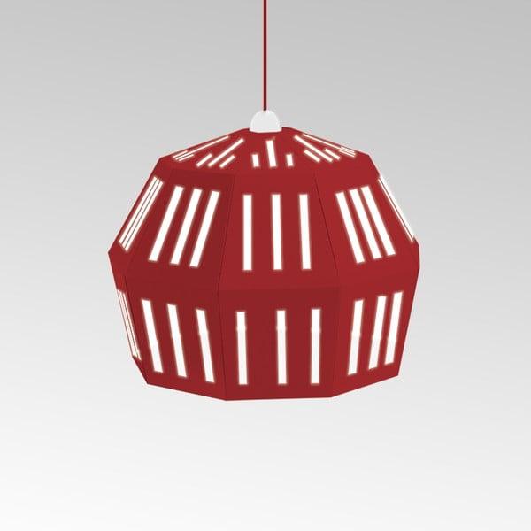 Kartonové svítidlo Uno Fantasia C Red, s červeným kabelem