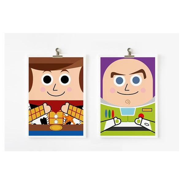 Plakáty A4 Toy Story - Woody a Buzz Lightyear