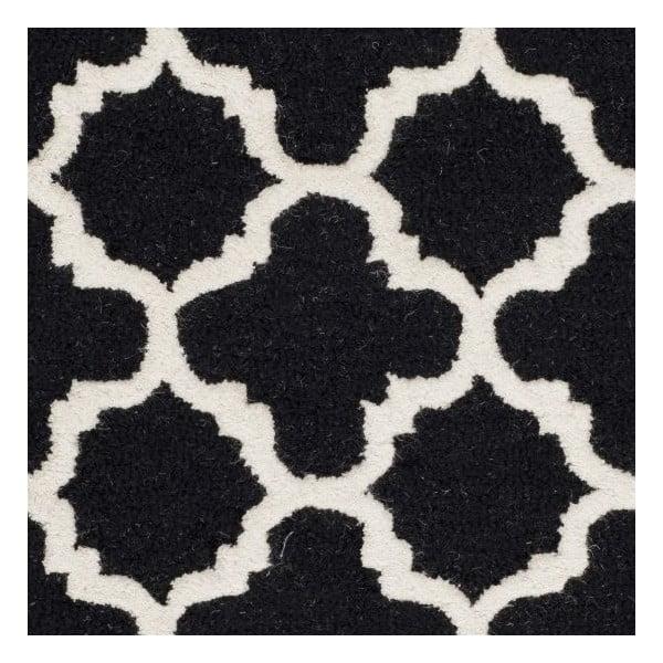 Vlněný koberec Safavieh Bessa Black, 182x121cm