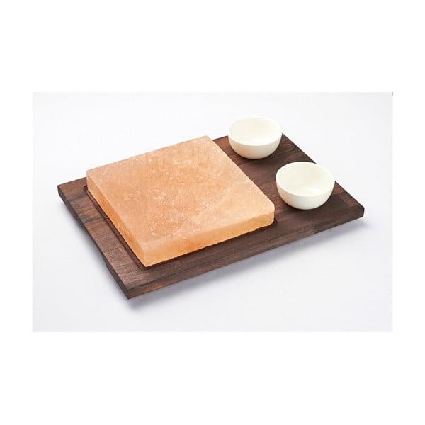 Servírovací podnos se solnou deskou a miskami Salt Plate ,38x27 cm