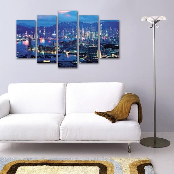 5dílný obraz Modré město