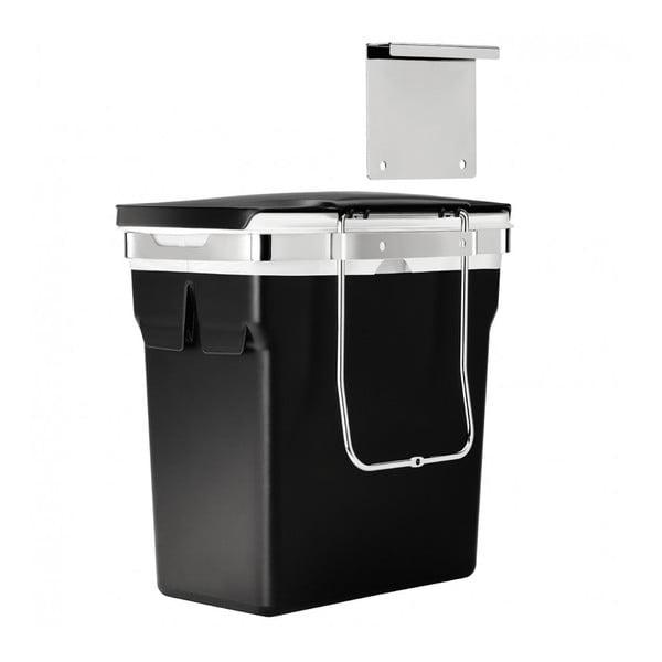Vestavný odpadkový koš Inside, 10 l černý